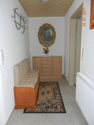 Wardrobe and bench with storage