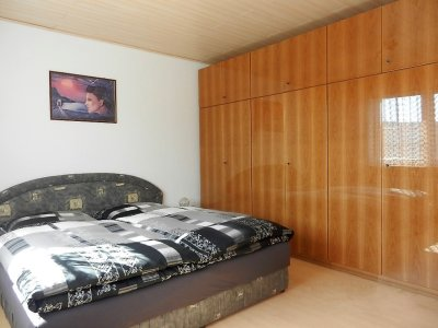 Wardrobe with double bed