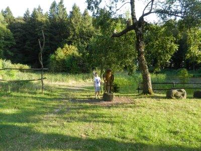 Wooden figures playground Farnsberg