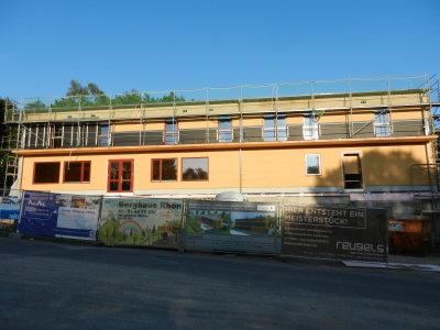 Construction mountain house Rhone on Farnsberg
