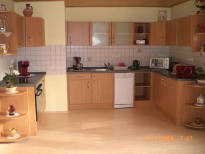 A large part of the kitchen was built themselves