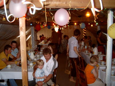 Birthday party in the attic
