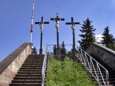 Station 12 and landmark of the Way of the Cross