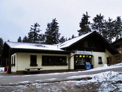 A cozy cabin next to the toboggan run