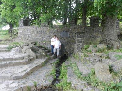 Masonry of basalt with Fuldaquelle