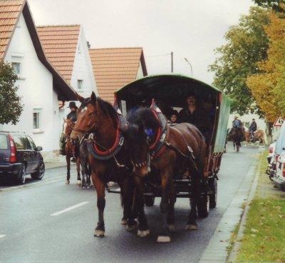 With the horses to the horses to Langenleiten
